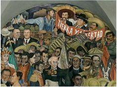 Detalle Mural de Diego Rivera en el Palacio Nacional de México : Tierra y libertad http://livecolorful.com/wp-content/uploads/2011/12/diego_rivera_terra_e_liberdade.jpg