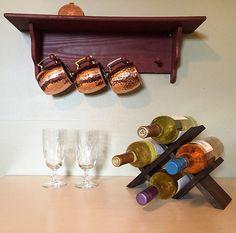 Botellero de madera reciclada por MPDesignStudio en Etsy