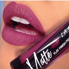 LA Girl Matte Lipstick - Rebel ~ I bought one of these on a recent trip to New York but I can't remember what shade, I'll have a look & update this later, as this shade looks familiar. The one I have is called 'Timeless' Kiss Makeup, Love Makeup, Makeup Tips, All Things Beauty, Beauty Make Up, Lipstick Colors, Lip Colors, Rebel, Batons Matte