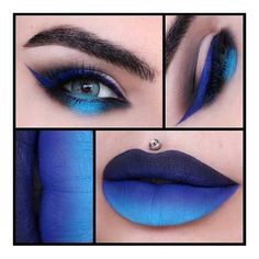 Karla Powell Make-up Artist ❤ liked on Polyvore featuring beauty products, makeup and blue makeup