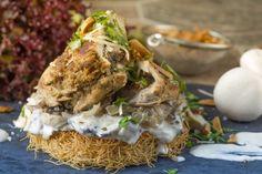 عش الدجاج المحشي أو كنافة صدر الدجاج من شذى الحسيني Kanafeh chicken nest by Shaza Al Husseini