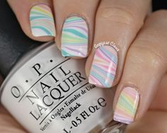 Copycat Claws: Springtime Water Marble Nail Art