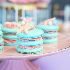 Mermaid party macaroons