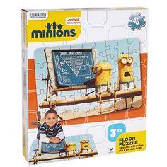 Casse-tête puzzle Minions, 46 pièces, 3pieds, 3+ ans. 16.99$  Disponible en boutique ou sur notre catalogue en ligne. Livraison rapide au Québec.  Achetez-le info@laboiteasurprisesdenicolas.ca
