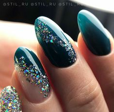 Image about stiletto nailart&rings in Nails / Rings / Earrings by AtaDeniz✅ Colored Acrylic Nails, Almond Acrylic Nails, Summer Acrylic Nails, Summer Nails, Gem Nails, Bling Nails, Nail Manicure, Nail Gems, Sparkle Nails