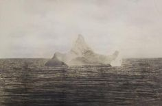 The day after the Titanic sunk, a steward on another ship took an ominous photo of a 100 foot tall iceberg, serving as a chilling reminder of what happened the day before.