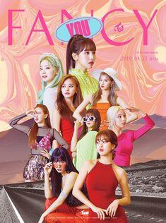 TWICE's 'Fancy You' poster / teaser. I fancy Momo - (and Jihyo - hell, fancy 'em all). Nayeon, Kpop Girl Groups, Korean Girl Groups, Kpop Girls, Extended Play, Fancy, Shy Shy Shy, Jiyong, Super Junior T