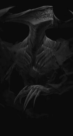 ArtStation - Marek Madej's submission on Beyond Human - Character Design - - - Monster Concept Art, Alien Concept Art, Creature Concept Art, Fantasy Monster, Monster Art, Creature Design, Dark Creatures, Mythical Creatures Art, Dark Fantasy Art
