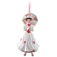 Disney Mary Poppins Ornament | Disney StoreMary Poppins Ornament - Make your Christmas tree practically perfect in every way with the addition of this Mary Poppins figurine ornament. Wearing a glittering outfit, with bonnet and umbrella, the glamorous nanny will watch over your happy holiday.