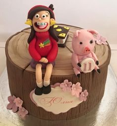 Waddles from Gravity Falls birthday cake gravity falls board