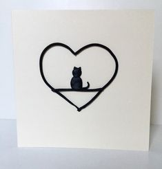 Excited to share the latest addition to my #etsy shop: Cat greeting card /cat birthday card /black cat card /card for her/ cat lover card / any occasion