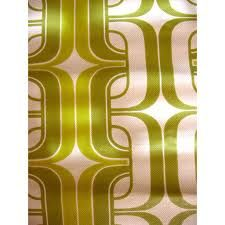 1970's lime green square pattern