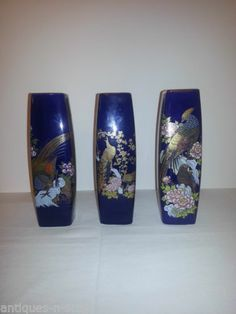 Pheasant, Blue flowers and Cobalt blue on Pinterest Yard Sale, Porcelain Ceramics, Flower Decorations, Cobalt Blue, Blue Flowers, Wine Glass, Pheasant, Tableware, Vases