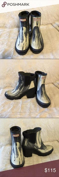 Hunter block heel Chelsea rain boot size 6 Brand new have never worn once, are in perfect condition/ 103 on ♍️ Hunter Shoes Winter & Rain Boots