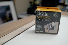 Framing Tutorial - using frame sealing tape from Lineco #archival #framing