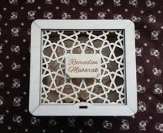 This wooden laser cut box with engraving Ramadan/Eid Mubarak is a wonderful present by itself. It can be used for sweets, spa products or perfume and given as a luxury gift. Any Eid gift will look exclusive in this box! Hajj Mubarak, Ramadan Mubarak, Islamic Decor, Islamic Gifts, Ramadan Decorations, Star Decorations, Laser Cut Box, Laser Cutting, Ramadan Gifts