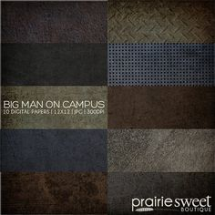 12x12 Digital Paper Collection  Big Man on by PrairieSweetBoutique, $10.00