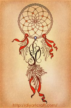 dreamcatcher with letters