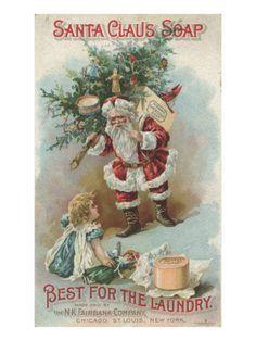 Best for the Laundry', Advertisement for Fairbank's Santa Claus Soap, C.1880 Impressão giclée