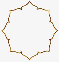 Gold Frame - Gardening for beginners and gardening ideas tips kids Stencil Patterns, Stencil Designs, Embroidery Patterns, Eid Crafts, Ramadan Crafts, Decoraciones Ramadan, No Photoshop, Flower Frame, Crochet Patterns