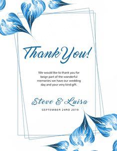 Thank You Customizable Design Templates Create Invitations, Elegant Invitations, Wedding Invitation Templates, Wedding Invitations, Invert Colors, Thank You Card Template, Event Flyer Templates, Event Flyers
