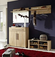 Brand New Entrance Hall Furniture Set Wood Effect | Modern Hallway POINT BRW
