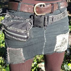 Crust punk Mini skirt by NocturnalLycanthrope on Etsy, $25.00
