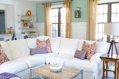 Subtle autumn touches - Four Generations One Roof fall home tour 2013 - Family Room