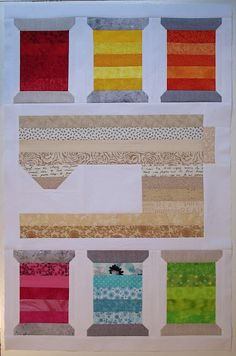 Sewing Spools Wall Quilt | Sewing spaces, Thread spools and Block wall