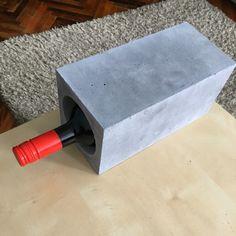 cement box for storing wine #cenent #concrete #design #handmade #homemade