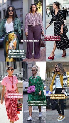 ideias para combinar estampa + cor! Moda Pop, Fashion Stylist, Women's Fashion Dresses, Casual Chic, Casual Looks, Trendy Outfits, Ideias Fashion, Street Style, Style Inspiration