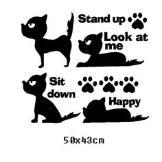Free Shipping Train Dog Stand Sit Wall Sticker Living Room Bedroom Decor Mural Art Vinyl Wallpaper Home Decoration Decal W252