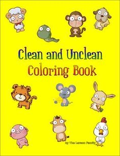 Clean and Unclean Coloring Book Free Dietary Laws Coloring Book