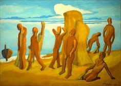 Am Strand (On the Beach), 1954, Max Pechstein