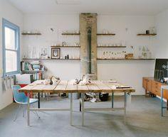 Reiko Kaneko's studio area, Stoke-on-Trent