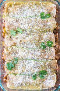 Pulled Jackfruit Enchiladas Verdes
