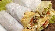شاورما اللحم بكل ملحقاتها من الشيف حسن