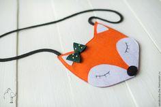 Купить Сумочка из фетра - оранжевый, звериная расцветка, лиса игрушка, лисичка, сумочка ручной работы