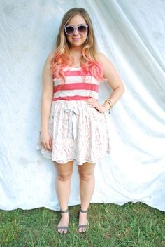 loving the pink tips- so feminine and pretty with the curls, but still so fun at the same time!  @Katie Lynne