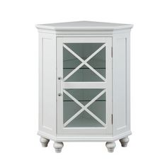 Image On Shop for Grayson Corner Floor Cabinet by Elegant Home Fashions Get free delivery at Overstock