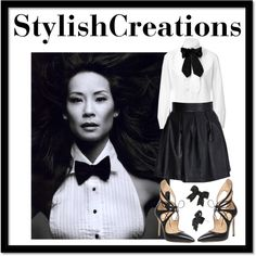 Lucy Liu by athomemommy, via Polyvore