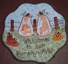 Pumpkin handprint pottery