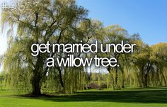 Get married under a willow tree.