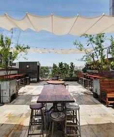 Best Summer Friday Happy Hour Bars NYC | We rounded up the best bars for Summer Fridays in New York City. #refinery29 http://www.refinery29.com/best-bars
