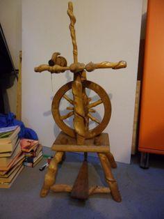 Sehr schönes Spinnrad zur Deko aus Knüppelholz in Antiquitäten & Kunst, Alte Berufe, Spinner   eBay