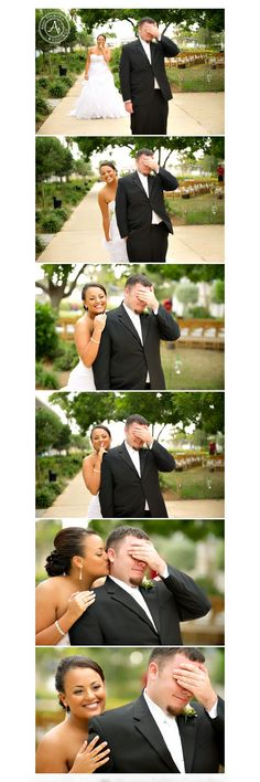 First Touch- the groom was not allowed to see the bride!  Postcard Inn Wedding Photographers