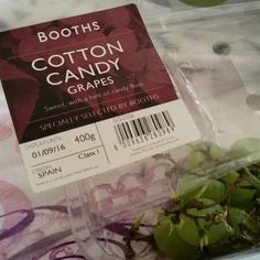 Oh my word! Candy floss grapes? @BoothsCountry you are spoiling me! These are amazing and I need more of these in my life!