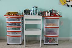 lego storage & build area