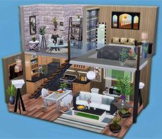 The sims 4 Sims 3 Houses Ideas, Sims 4 Houses Layout, House Ideas, House Layouts, Sims Ideas, Casas The Sims Freeplay, Sims Freeplay Houses, Sims 4 House Plans, Sims 4 House Building