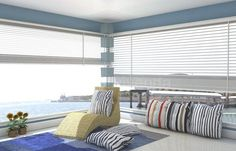 Relax¡¡ #Reformas viviendas Roman Shades, Blinds, Relax, Curtains, Design, Home Decor, Renovation, Home, Sunroom Blinds